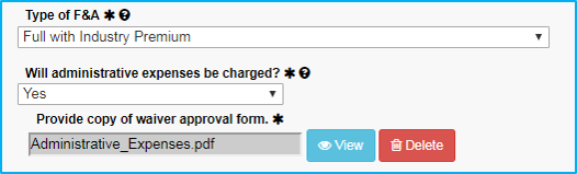 A screenshot of Penn State College of Medicine's IAF tool shows the Provide copy of waiver approval form upload field filled in with a sample filename.
