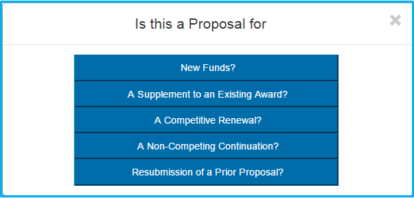 A screenshot of Penn State College of Medicine's IAF system shows a menu with five options - new funds, supplement to existing award, competitive renewal, non-competing continuation or resubmission.