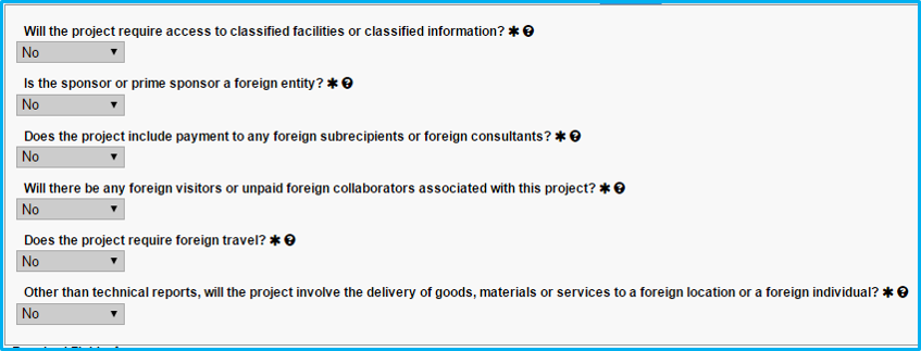 A screenshot of Penn State College of Medicine's IAF tool shows the Export section with several dropdowns, all of which are set to No.