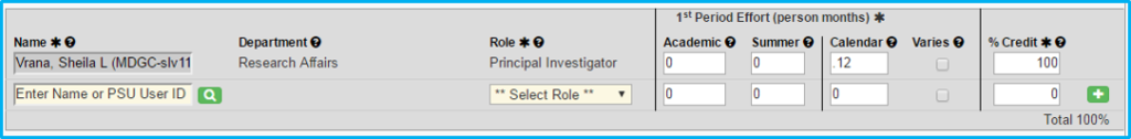 A screenshot of Penn State College of Medicine's IAF tool shows the Personnel tab with fields about the investigator filled in.