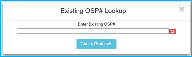"""A screenshot of Penn State College of Medicine's IAF tool shows the OSP number lookup field blank and a """"search"""" icon with a red background."""