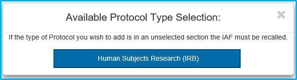 A screenshot of Penn State College of Medicine's IAF tool shows the available protocol type selection field.