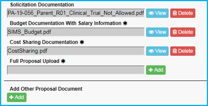 A screenshot of Penn State College of Medicine's IAF tool shows the Attachments section with fields to upload various types of supporting documentation.