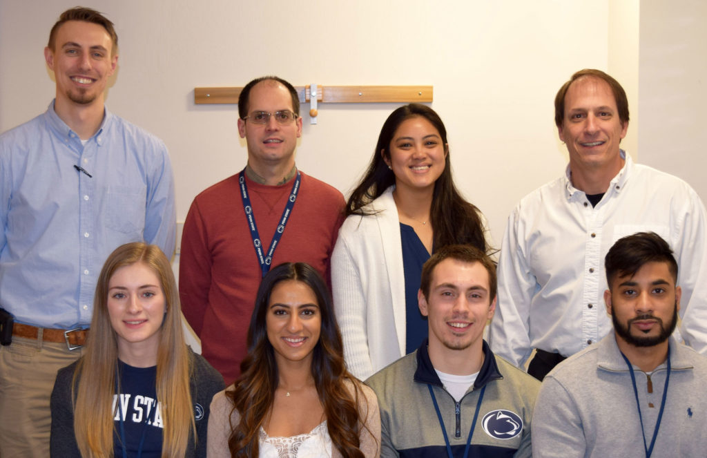 The 2020 trainees with the ONE Group at Penn State College of Medicine are pictured with program faculty and staff. There are eight people in two rows.