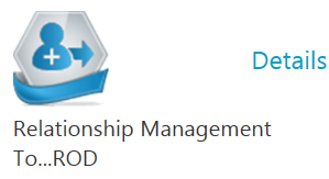 A screenshot shows a step in the Cerner Relationship Management Tool login process. An icon that says Relationship Management, with the word Details beside it, appears.