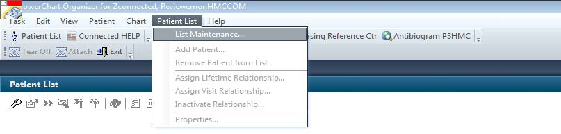 A screenshot shows a step in the process research external reviewers use in Penn State Health Milton S. Hershey Medical Center's PowerChart tool. A dropdown menu with selections is shown.