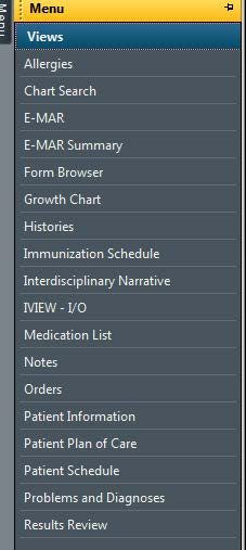 A screenshot shows a step in the process research external reviewers use in Penn State Health Milton S. Hershey Medical Center's PowerChart tool. A dropdown menu with view options is shown.