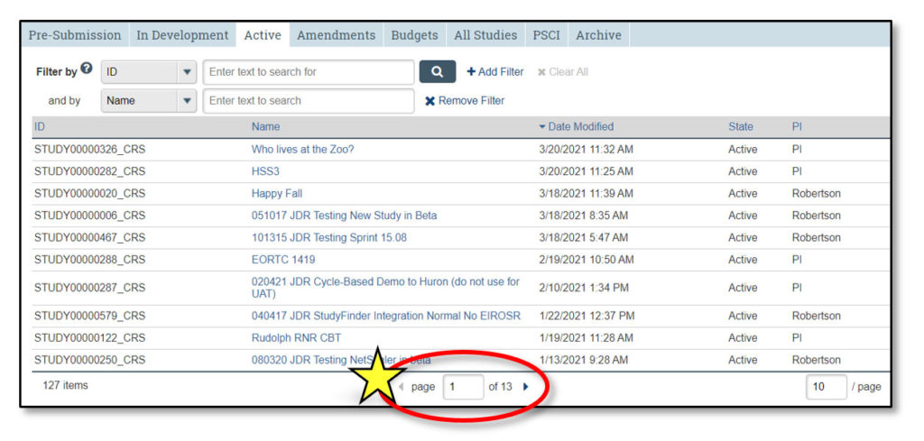 A screenshot of the STAR page navigation shows the page number at the bottom center circled and marked with a star icon.